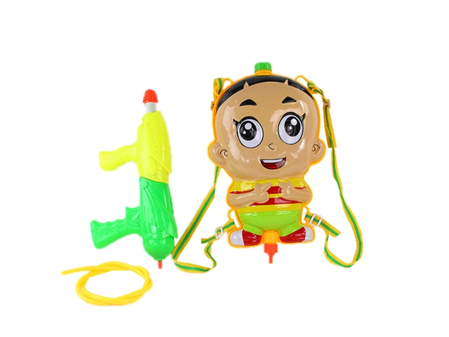 Big head son backpack water gun yellow - CY372519