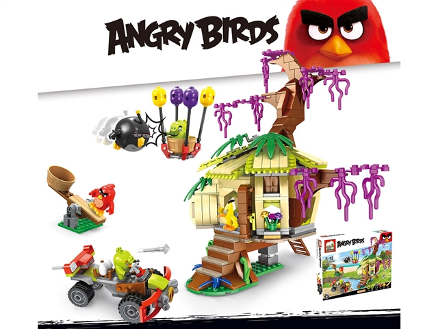 Lego building blocks angry birds - scramble for eggs - CY372672