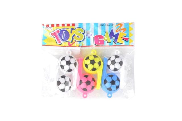 Six Colorful Football Whistles - CY379773