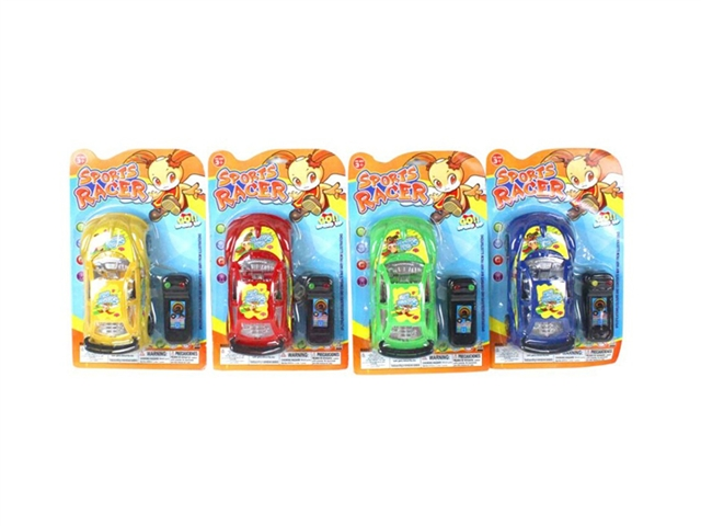 Cartoon girl's line control car 4-color mix - CY380436