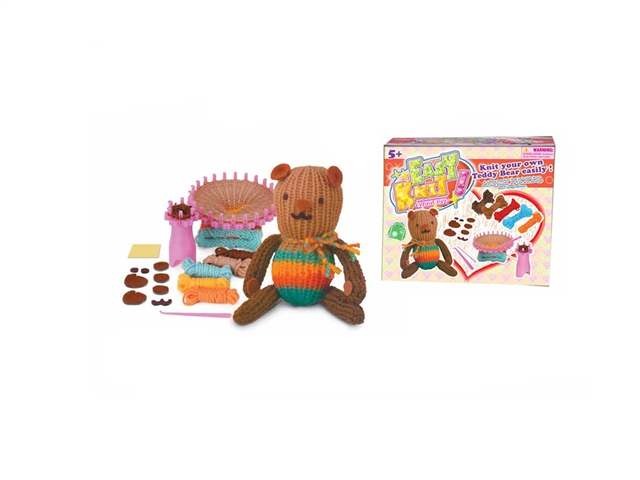 DIY knitting bear weaving music - CY384867