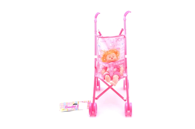 Baby carriage with doll - CY387974