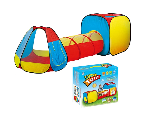 Three in one children's tent combined tunnel climbing game house - CY388820