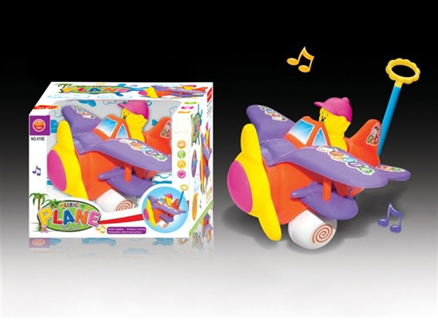 Push pull electric plane with music - CY389740